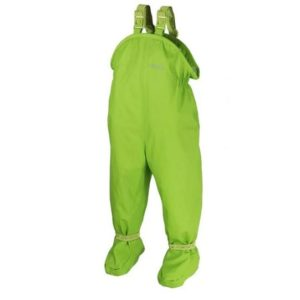 BMS-salopette-bebe-ciré-impermeable-avec-pieds-integres-vert