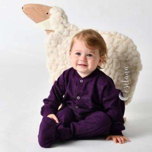Pyjama bébé cosilana éponge laine bio