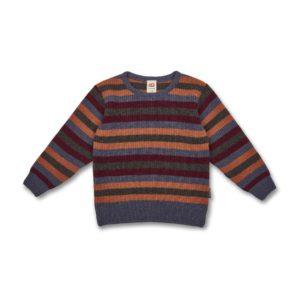 Pull rayé laine recyclée Manitober