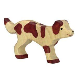 figurine chien en bois