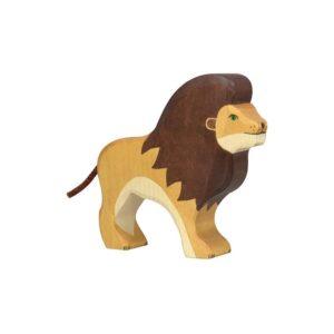 lion jouet bois