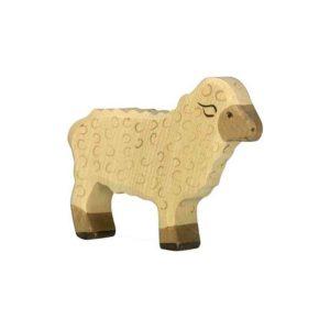 mouton blanc en bois - debout