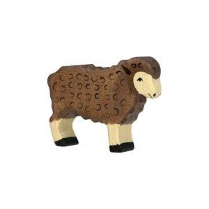jouet mouton noir en bois
