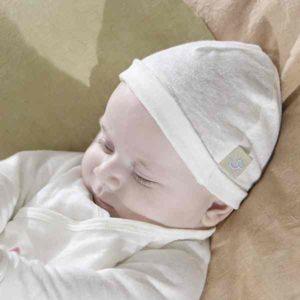 bonnet bébé en lin